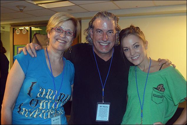 Karen Mason, Gabriel Barre and Laura Osnes