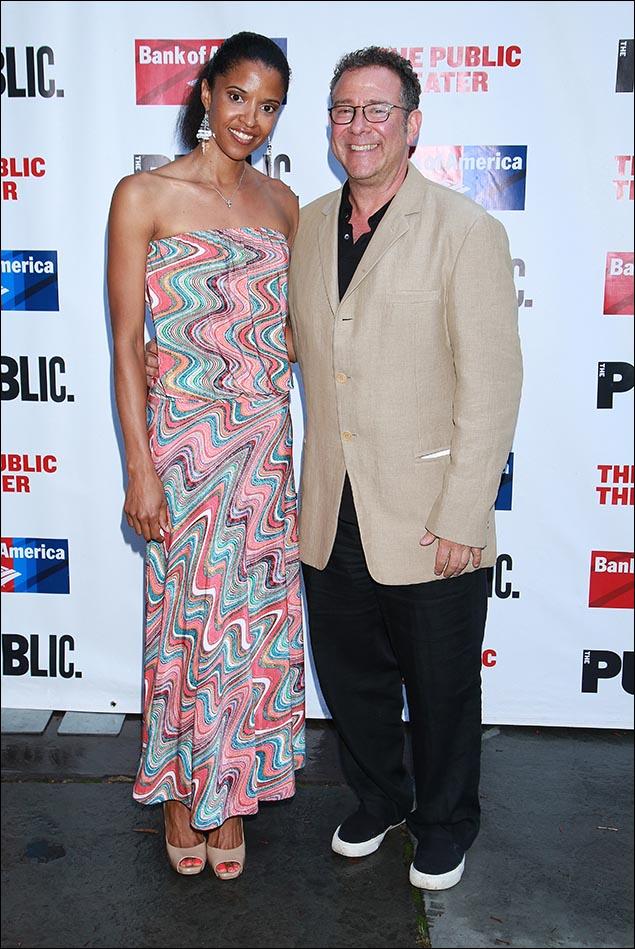 Renee Elise Goldsberry and Michael Greif