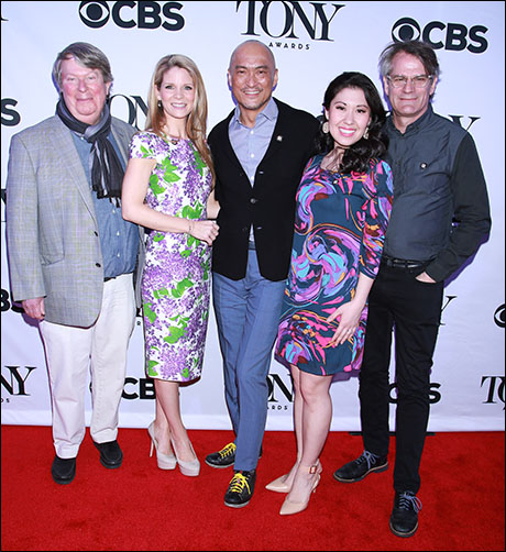 Andre Bishop, Kelli O'Hara, Ken Watanabe, Ruthie Ann Miles and Bartlett Sher