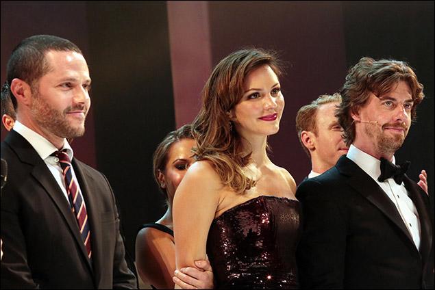 Joshua Bergasse, Katharine McPhee and Christian Borle