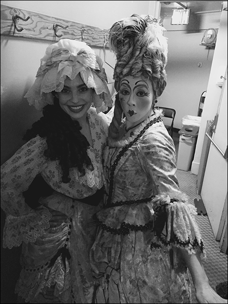 "Satomi Hofmann and I strike a pose before going on for ""Il Muto""!"