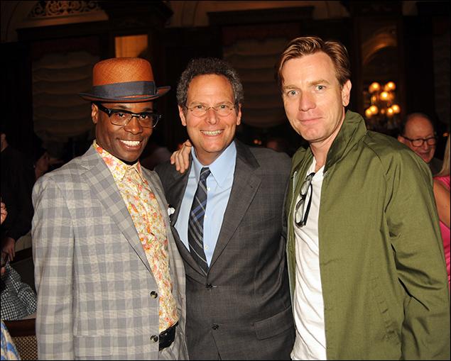 Billy Porter, Pittsburgh CLO Executive Producer Van Kaplan and Ewan McGregor