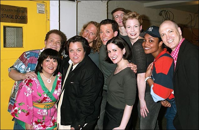 Rosie O'Donnell, Charles Busch and the cast