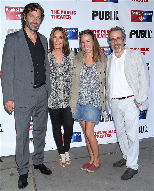 Peter Hermann, Mariska Hargitay, Elizabeth Marvel and Warren Leight