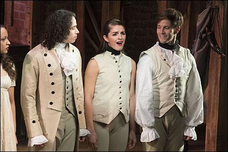 Anthony Ramos, Carleigh Bettiol and Thayne Jasperson