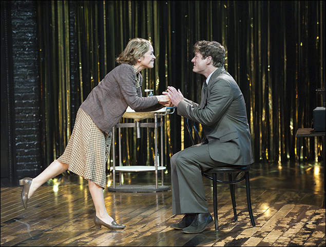Naomi Jacobson (Fraulein Schneider) and Gregory Wooddell (Cliff)