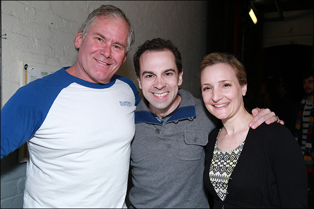 Timothy Shew, Rob McClure and Maggie Lakis