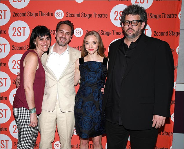Leigh Silverman, Thomas Sadoski, Amanda Seyfried and Neil LaBute