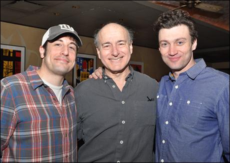 Jason Biggs, Peter Friedman and Bryce Pinkham