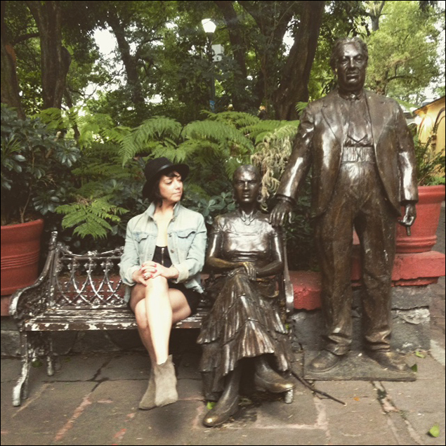 Lori Ann Ferreri: Chillin with Frida Kahlo and Diego Rivera in Mexico City