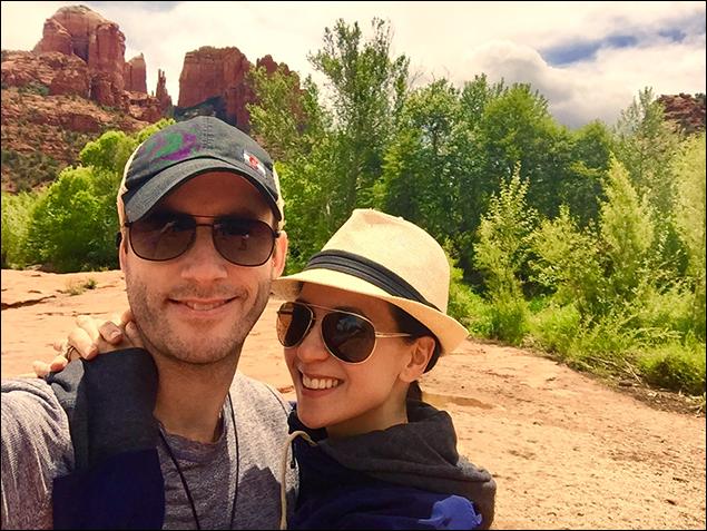 Kristine Covillo: Visiting a Vortex with my husband.