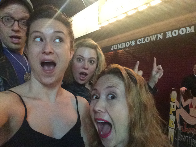 Holly Ann Butler: I went to L.A. for the break to visit my sister (who has my 6-month-old niece) and some friends! This is me, my sis, and two on my friends at this weird bar in L.A.