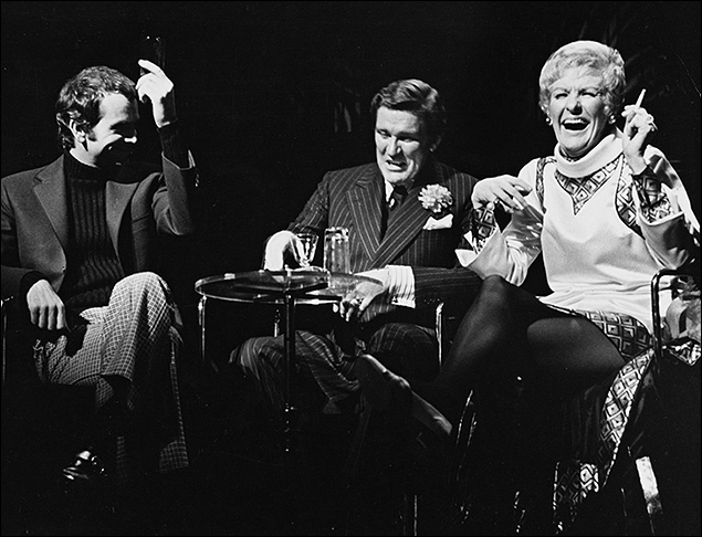 Dean Jones, Charles Braswell and Elaine Stritch in  Company.