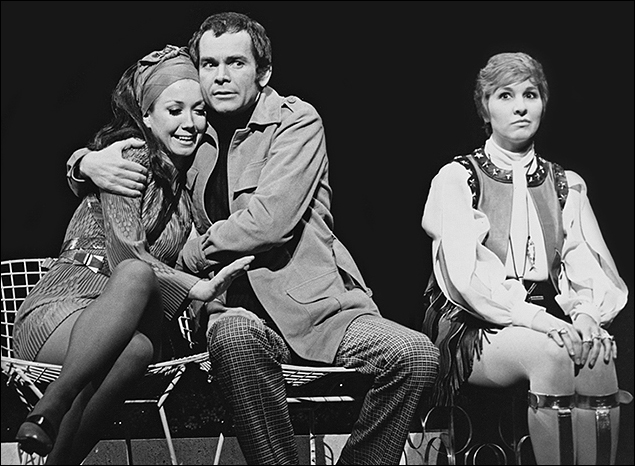 Donna McKechnie, Dean Jones and Pamela Myers in Company.