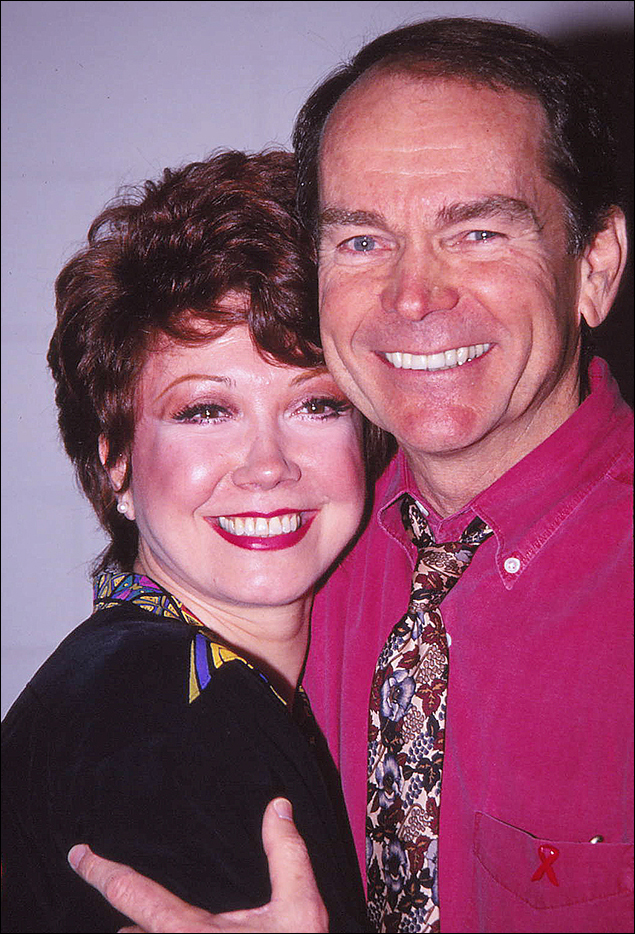 Donna McKechnie and Dean Jones during rehearsals for the Company reunion concert.