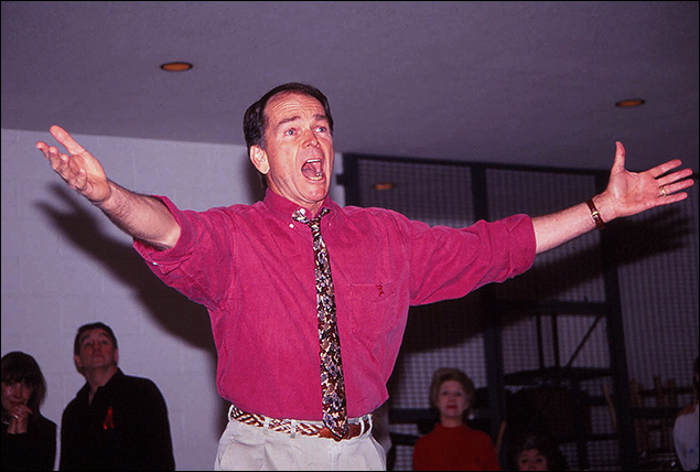 Dean Jones during rehearsals for the Company reunion concert. at the Vivian Beaumont Theatre in 1993.