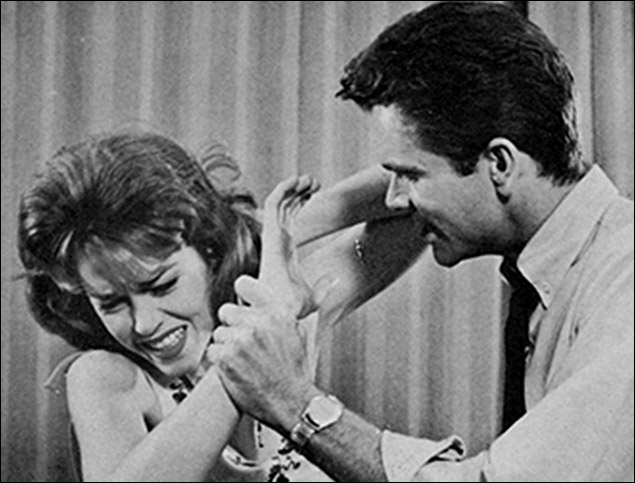 Jane Fonda and Dean Jones in There Was A Little Girl, at the Cort Theatre in 1960.