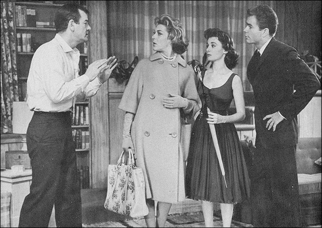 Gig Young, Nan Martin, Sandra Church and Dean Jones in Under The Yum-Yum Tree.
