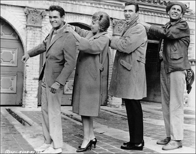 Dean Jones, Edie Adams, Robert Lansing and Paul Lynde in film version of Under The Yum-Yum Tree.