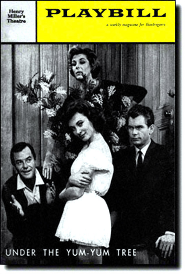 Gig Young, Sandra Church, Nan Martin and Dean Jones in Under The Yum-Yum Tree, at The Henry Miller's Theatre in 1960.