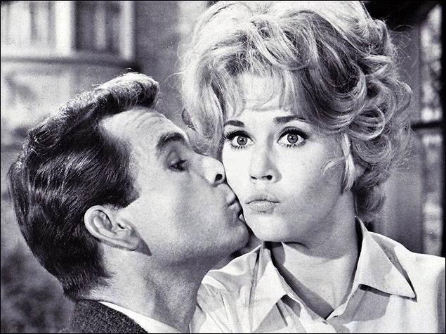 Dean Jones and Jane Fonda in the film version of the play Any Wednesday.