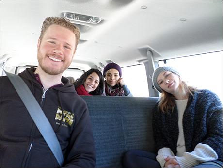 Ian Patrick Gibb, Samantha Massell, Ciara Renee and Nora Menken. My van buddies.