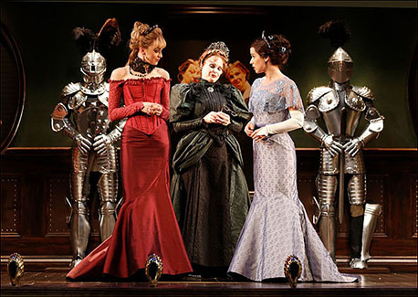 Lisa O'Hare, Heather Ayers and Chilina Kennedy in A Gentleman's Guide to Love and Murder at Hartford Stage