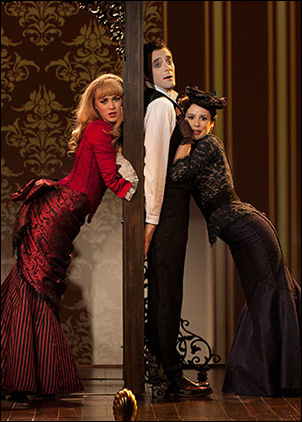 Lisa O'Hare, Ken Barnett and Chilina Kennedy in A Gentleman's Guide to Love and Murder at the Old Globe