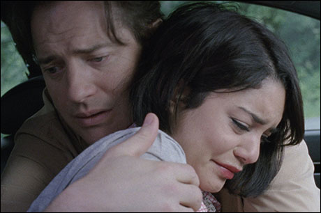 "Hudgens and Brendan Fraser in ""Gimme Shelter"" (2013)"