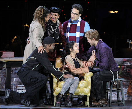 Hudgens and Tracie Thoms, Nicole Scherzinger, Skylar Astin, Aaron Tveit and Wayne Brady in Rent at the Hollywood Bowl (2010)