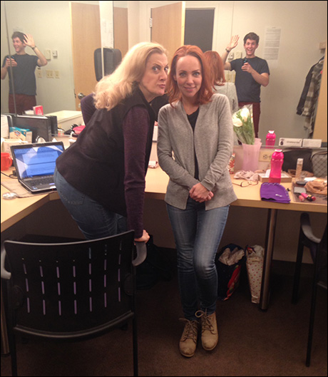 There seems to be a boy in the girls' dressing room, with Donna Migliaccio and Sarah Litzsinger (guest starring Jake Winn).