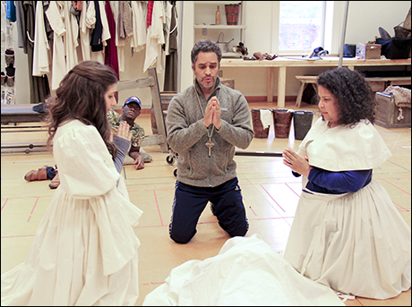 Maria Failla (Antonia), Sidney DuPont (Paco), Martín Solá (Padre) and Rayanne Gonzales (Housekeeper)