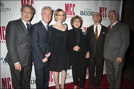 Robert LuPone, Blake West, Sarah Paulson, Fran Weissler, William Cantler, Bernard Telsey