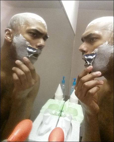 Shave yo' face.
