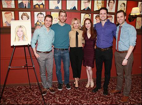 Sienna Miller with Leeds Hill, Benjamin Eakeley, Kaleigh Cronin, Evan Siegel and Caleb Damschroder