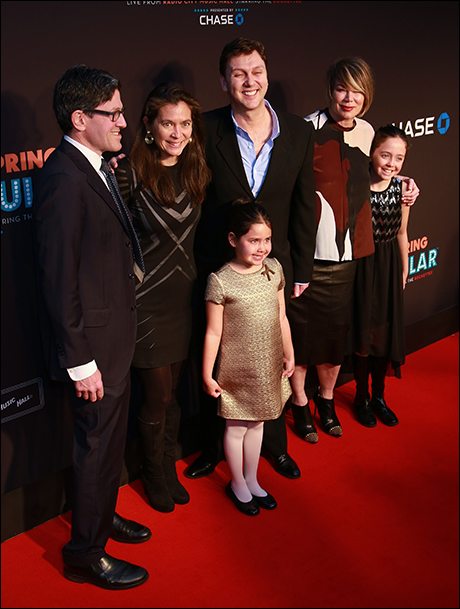 Diane Paulus, family, Warren Carlyle and Mia Michaels