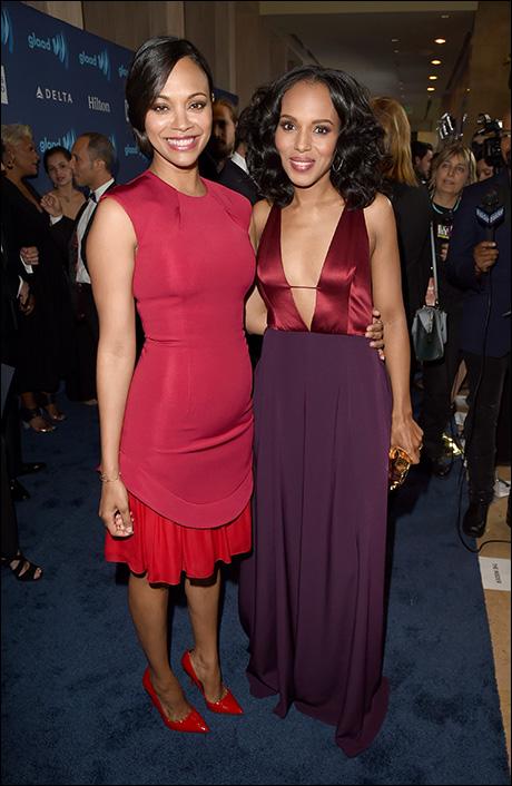 Zoe Saldana and Kerry Washington