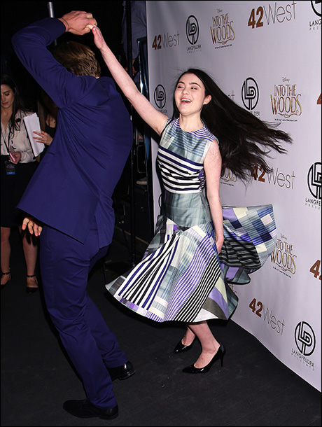 Billy Magnussen and Lilla Crawford