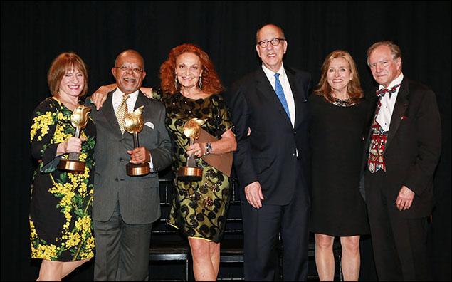 "Patti LuPone, Henry Louis Gates, Jr., Diane von Furstenberg, Stephen Briganti, Meredith Vieira and Christopher ""Kip"" Forbes"