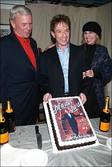 Celebrating 100 Performances, Tom Brokaw, Martin Short and Diane Keaton on Nov. 12, 2006.