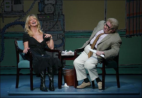 Martin Short as Jiminy Glick with special guest star Goldie Hawn on Dec 1, 2006.