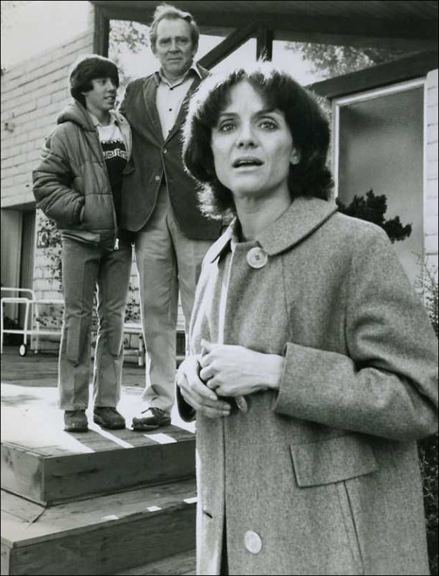 James Broderick and Valerie Harper in the TV version of the Michael Cristofer play The Shadow Box.
