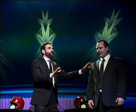 Anthony Crivello and Dan Cooney in Heathers: The Musical