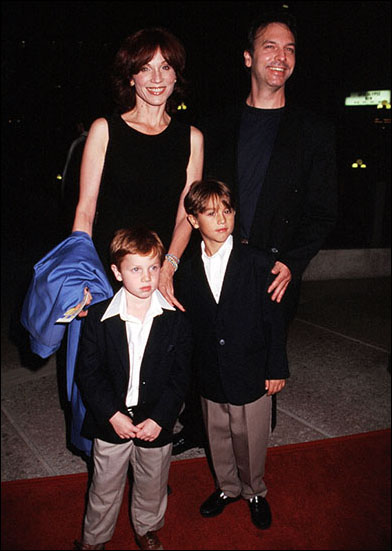 Marilu Henner, her brother Tommy Henner, and her sons Nicholas Lieberman and Joseph Lieberman