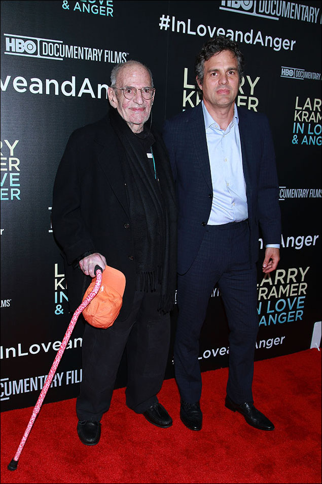 Larry Kramer and Mark Ruffalo