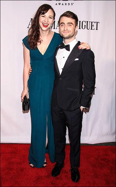 Erin Darke and Daniel Radcliffe at the 2014 Tony Awards