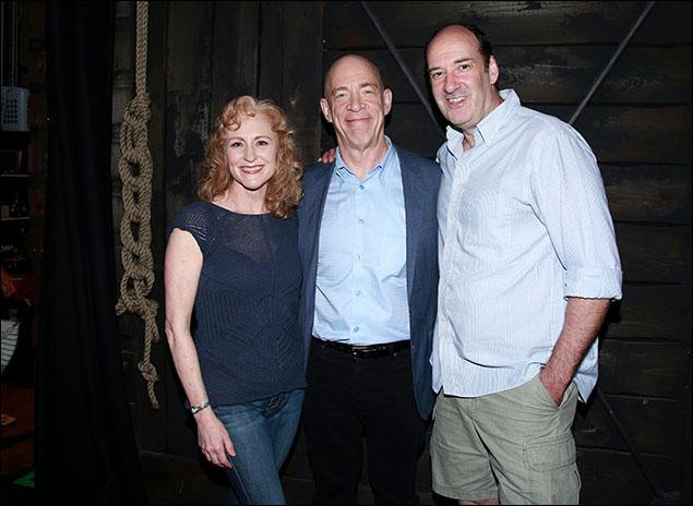 Elizabeth Ward Land, J.K. Simmons and Dan Sharkey