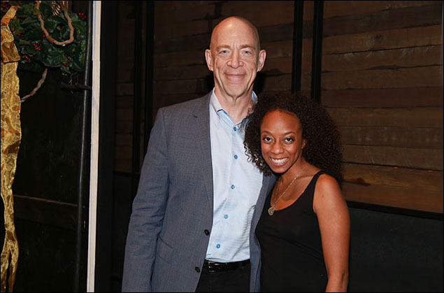 J.K. Simmons and Rachael Ferrera