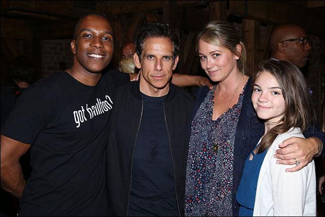 Leslie Odom, Jr., Ben Stiller, Christine Taylor and Ella Olivia Stiller