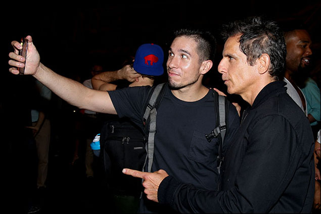 Jon Rua and Ben Stiller